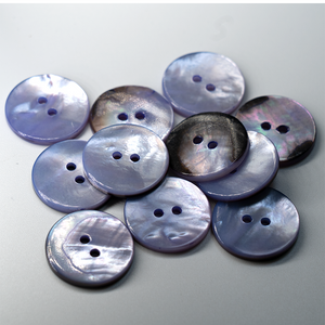 (3 pieces set) 23mm MOP shell Button in Purple