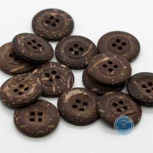 (3 pieces set) 18mm Big Rim coconut Button