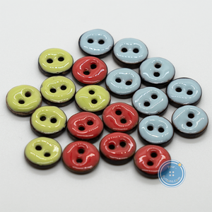 (3 pieces set)13mm Epoxy Coconut Shell Button