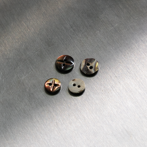 (3 pieces set) 2hole special takase shell Shiny Brown
