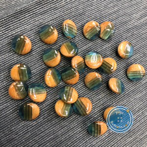(6 pieces set) wooden shank button mixed with resin