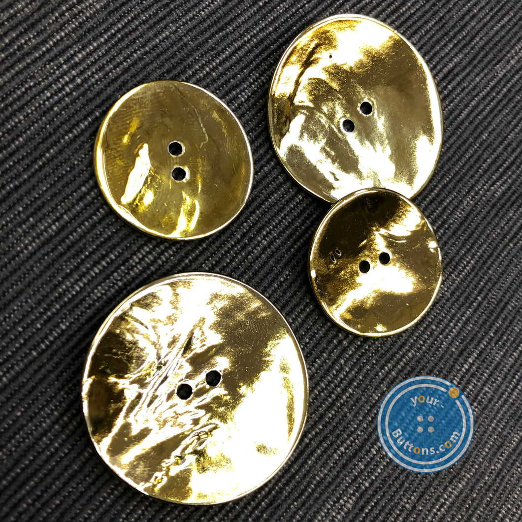 (2 pieces set)huge shell button with GOLD plating on top