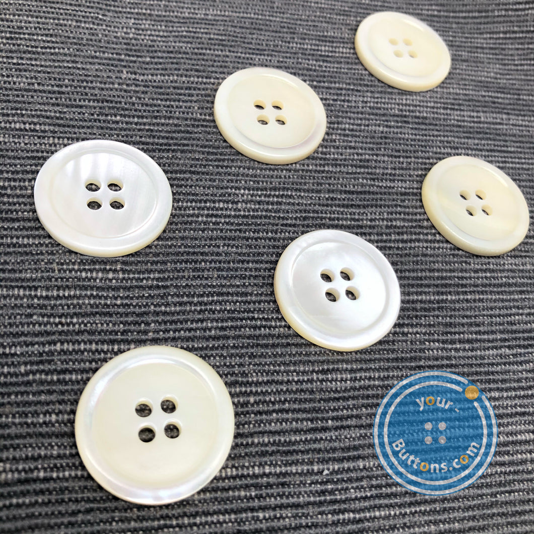 (3 pieces set)Trocas shell Button white color
