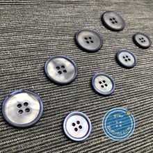 Load image into Gallery viewer, (3 pieces set) 4 hole Mother of Pearl matt blue suit button