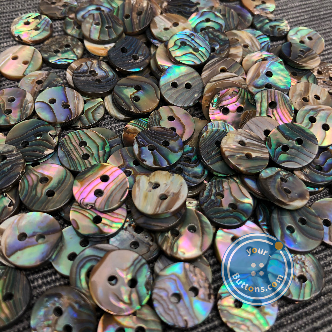 2hole Mexico abalone button Natural