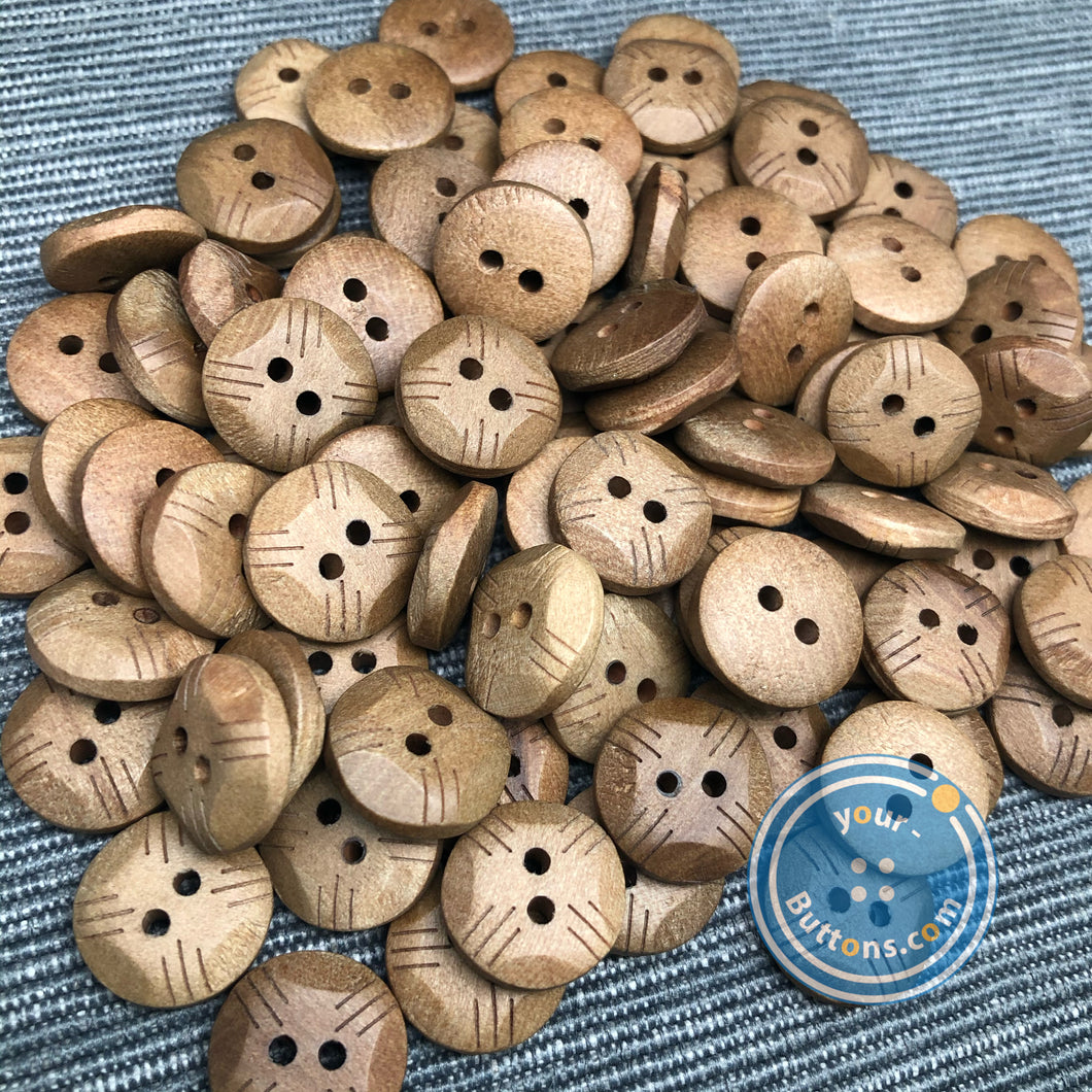 (6 pieces set) 4 hole stylish wood button