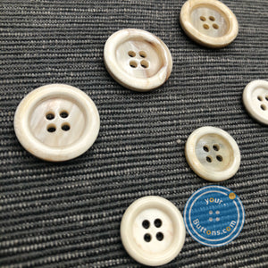 (3 pieces set) Unique 4hole white horn suit button ( Selected white )