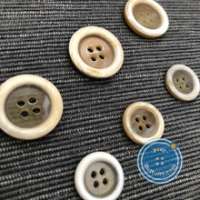 Load image into Gallery viewer, Unique 4hole beige horn suit button ( Selected beige )