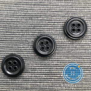 (2 pieces set) Real leather button with eyelet
