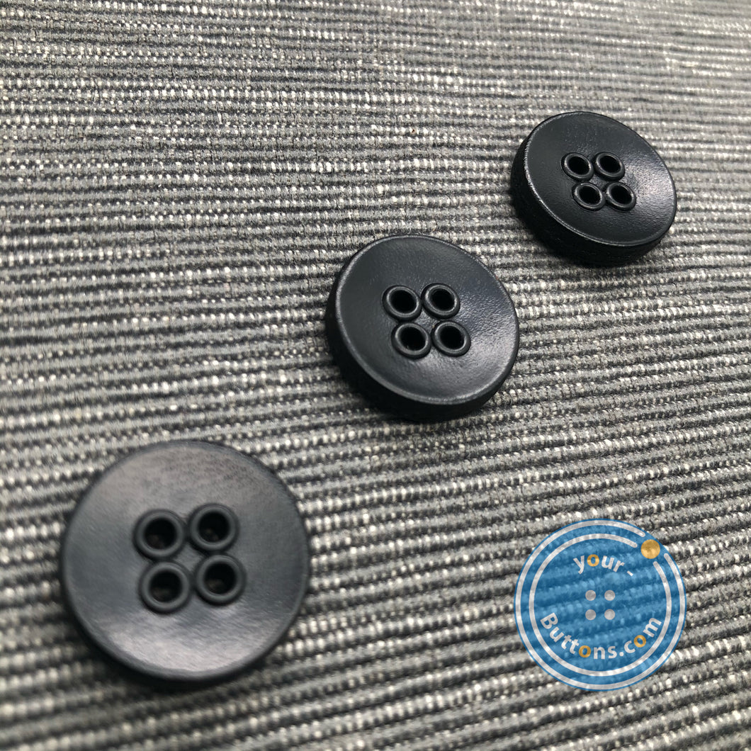 (2 pieces set) 4hole Real leather eyelet button