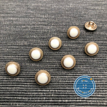 Load image into Gallery viewer, (3 pieces set) Metal button light gold color with little DOT on top