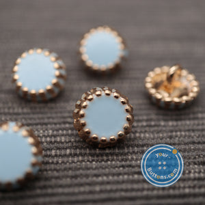 Cup Cake back shank button blue