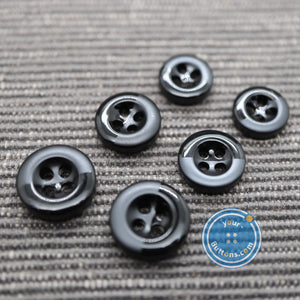 (4 pieces set) 4hole eco poly button shade pattern