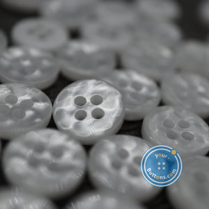 4hole White manhattan button best quality of eco poly shell