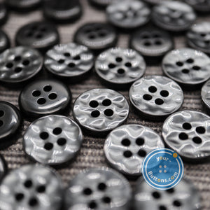 4hole Black manhattan button best quality of eco poly shell