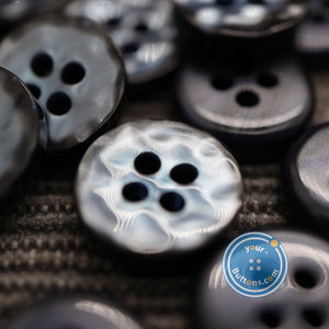 4hole Navy manhattan button best quality of eco poly shell