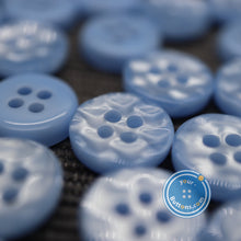 Load image into Gallery viewer, 4hole Sky blue manhattan button best quality of eco poly shell