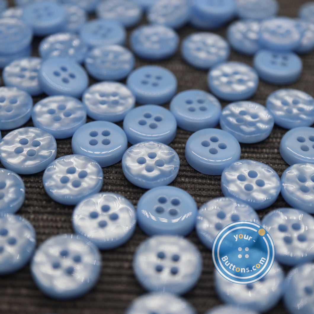 4hole Sky blue manhattan button best quality of eco poly shell