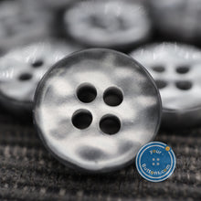Load image into Gallery viewer, (4 pieces set) 4hole Grey manhattan button best quality of eco poly shell