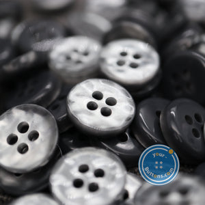 (4 pieces set) 4hole Grey manhattan button best quality of eco poly shell