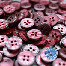 Load image into Gallery viewer, 4hole Wine red manhattan button best quality of eco poly shell