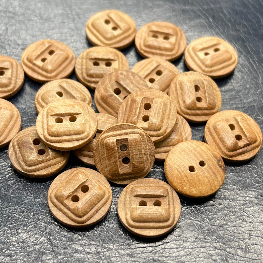(3 pieces set) Special wooden button