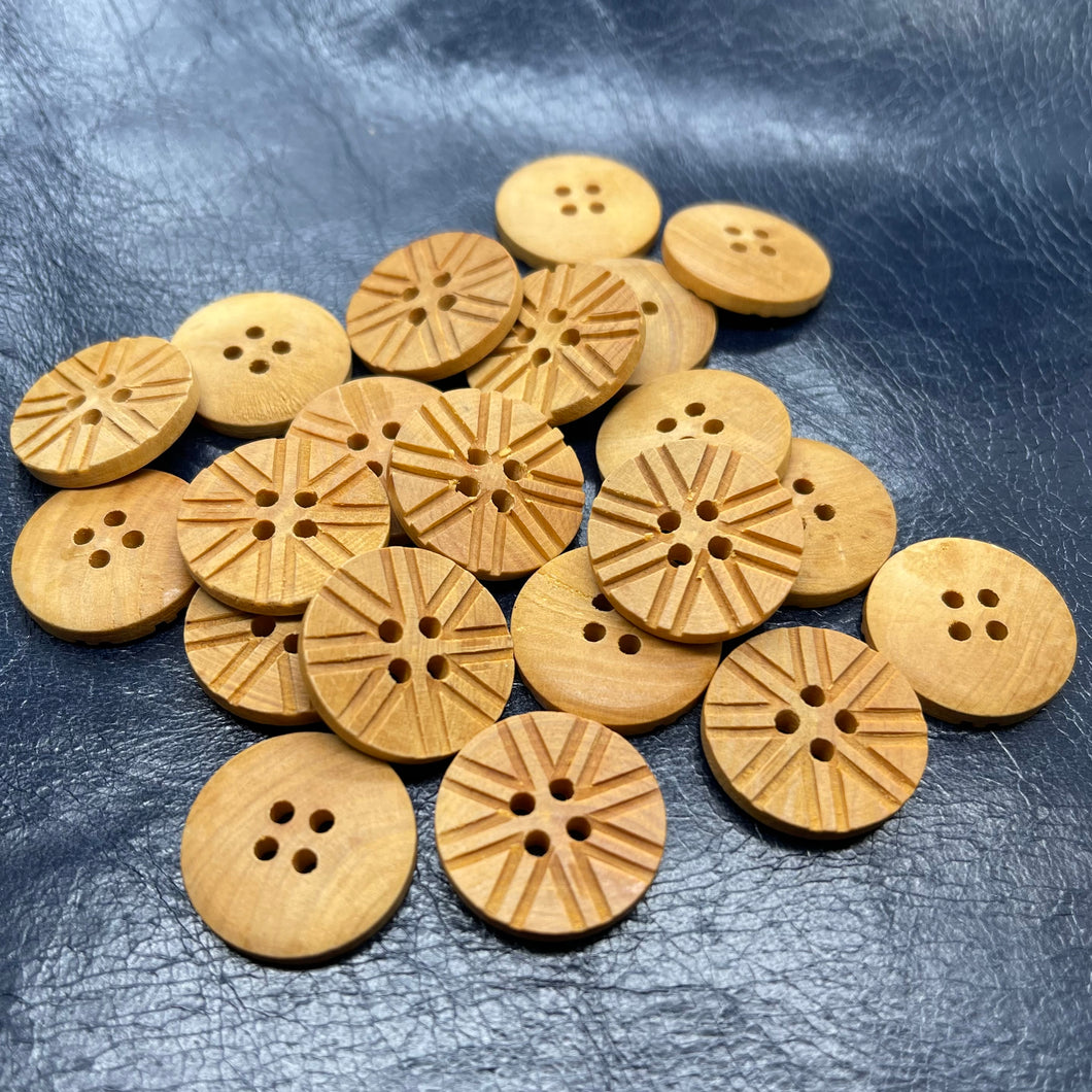 (3 pieces set) 4hole Special wooden button