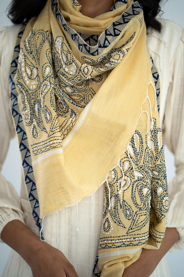 Wesley - Cotton Silk Stole