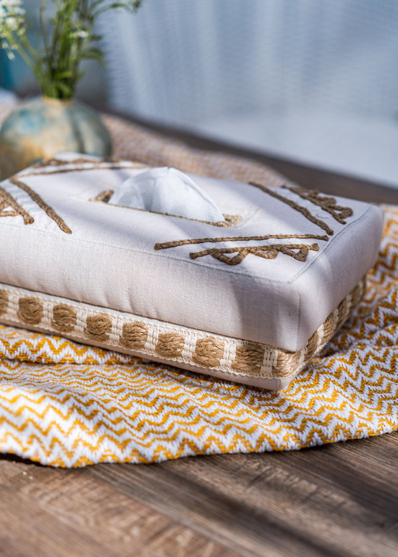 Sheba Hand Woven Cotton Tissue Box