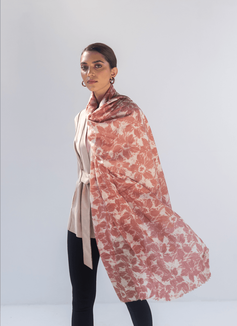 Pilipala Soft Wool Print Stole - Veaves