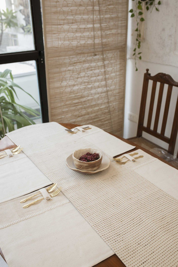 Koa - Dining Set Of A Table Runner And 8 Table Mats - Veaves