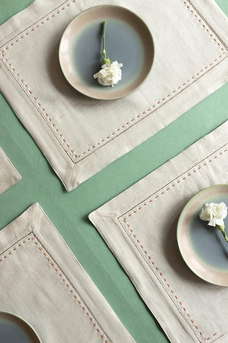 Üzvi - Table Mats - Set Of 6 Pcs - Veaves