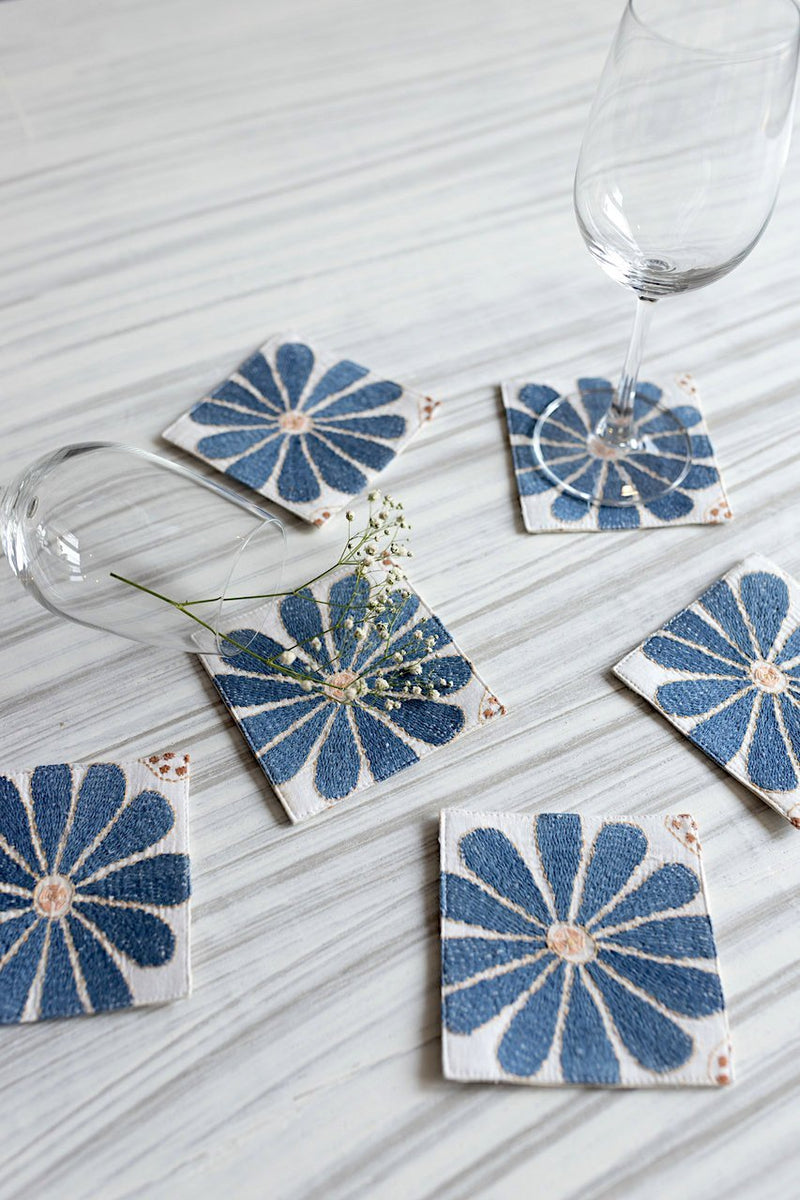 Arezu  Coasters - Set Of 6 Pcs - Veaves