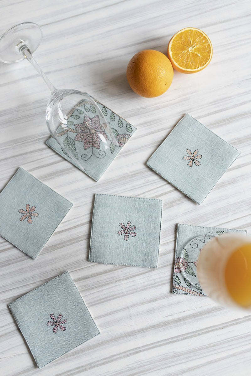 Eonia Coasters - Set Of 6 Coasters - Veaves
