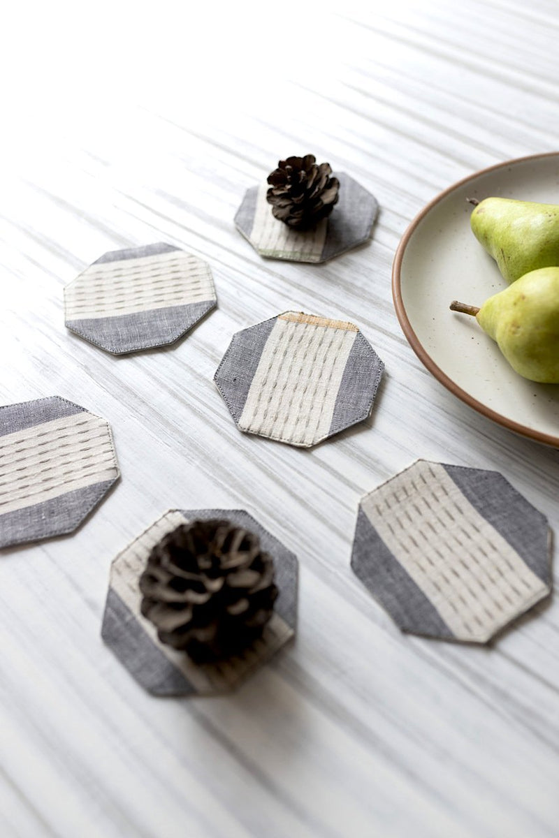Hanan Coasters - Set of 6 Pcs - Veaves