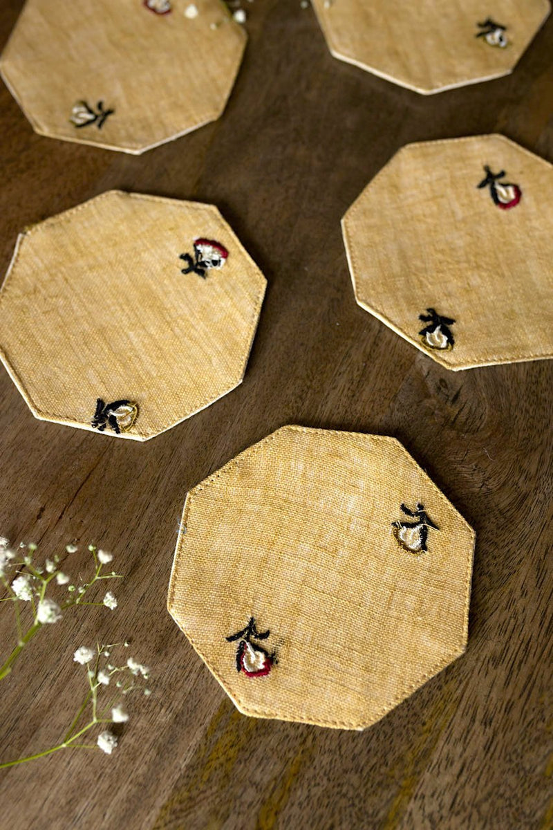 Meraki Coasters - Set Of 6 Pcs - Veaves
