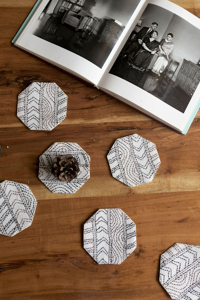 Vacilando Coasters - Set Of 6 Pcs - Veaves