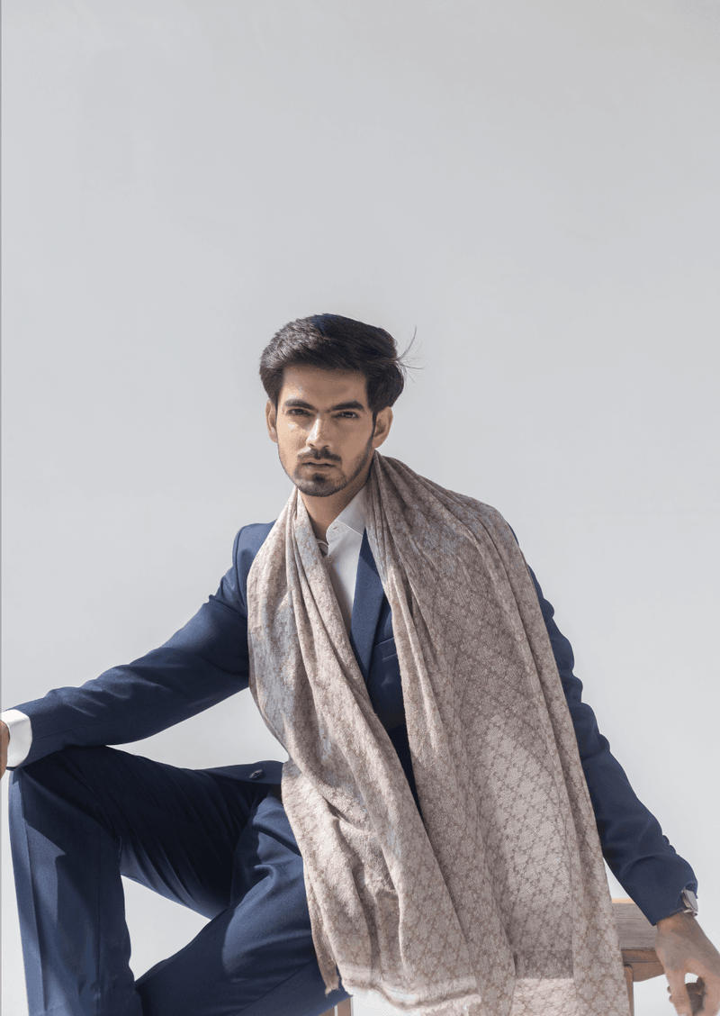 Ludic Soft Woollen Stole - Veaves