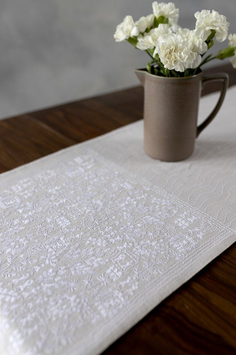 Conflicted Maze - Table Runner - Veaves