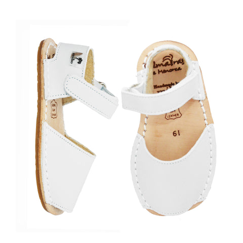White Leather Soft-sole