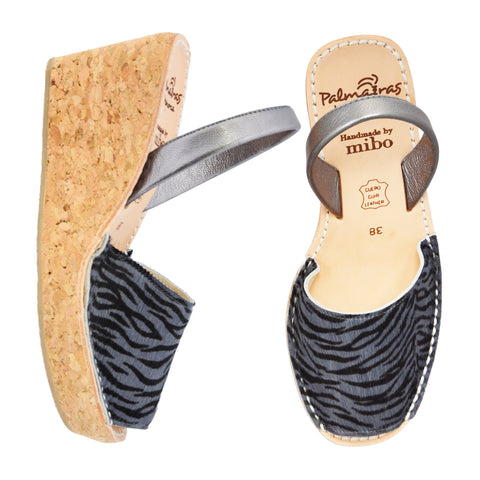 Zebra Cork Wedge