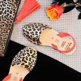 Leopard Print and Neon Coral Strap
