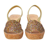 Multi Glitter Cork Wedges