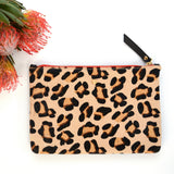 Leopard and Red mini clutch bag