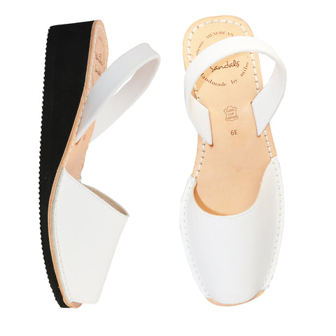 Blanco Low Black Wedge
