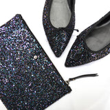 Dark Multi Glitter mini clutch bag