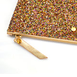 Multi Glitter mini clutch bag