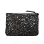 Black Glitter mini clutch bag