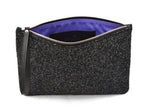 Black Glitter Palmaira Clutch Bag
