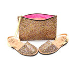 Multi Glitter Maxi Clutch Bag